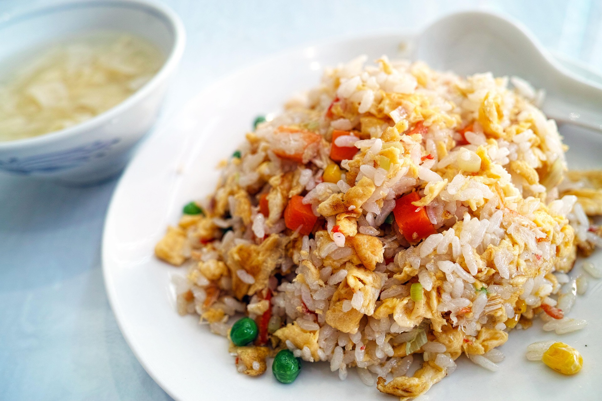 Plate of fried rice.